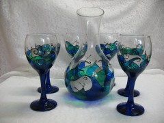 Hnad- painted sets- blue