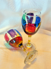 Hand-painted sets for wine-5