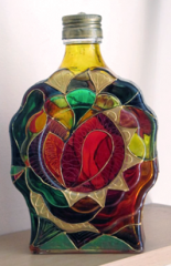Hand- painted bottle-k1