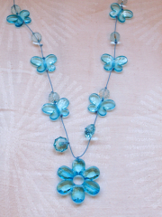 Necklace Blue Flower_3