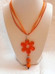 Necklace Orange Flower_12