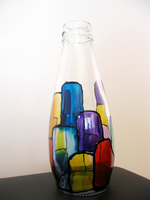 Hand- painted bottles-i6