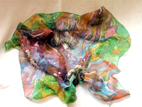 Silk scarves - Fish