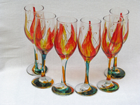 Hand-painted champagne glasses-11-01