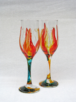 Hand-painted champagne glasses-11-02