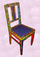 Striped art chair
