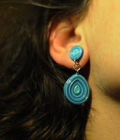 Quiling Earrings- Blue -11