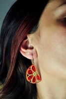 Quiling Earrings- Oranges-15