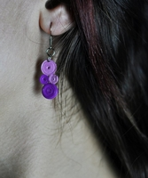 Quiling Earrings purple circles-18